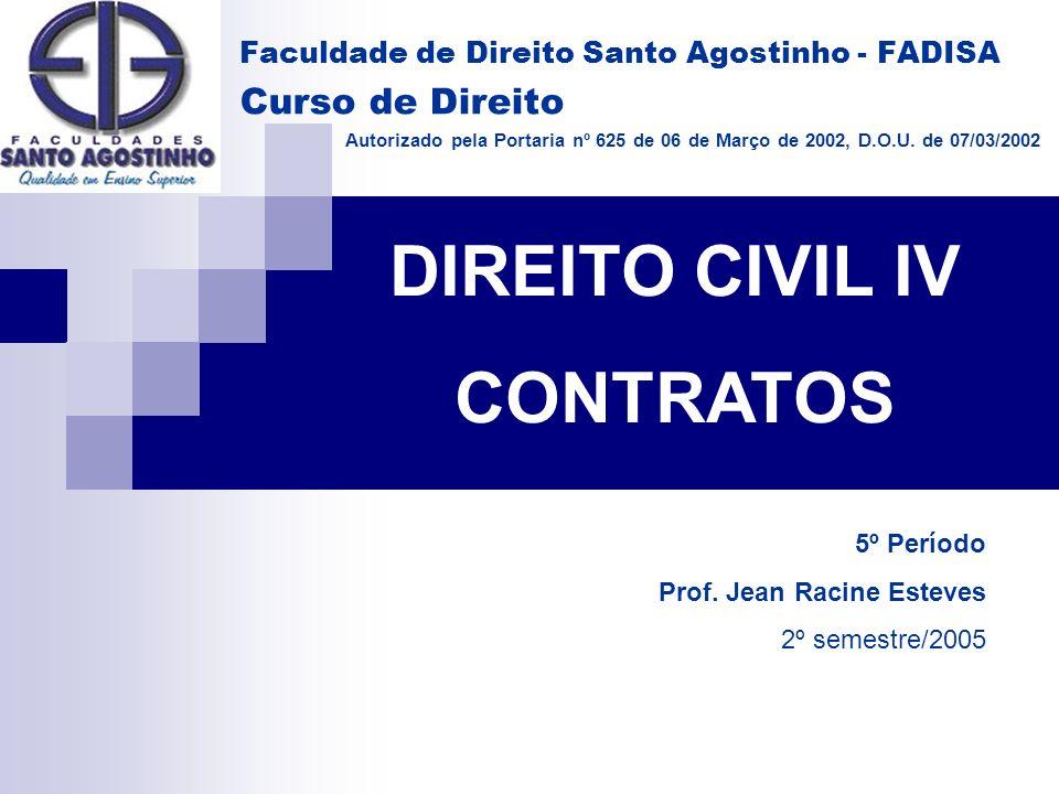 DIREITO CIVIL IV CONTRATOS