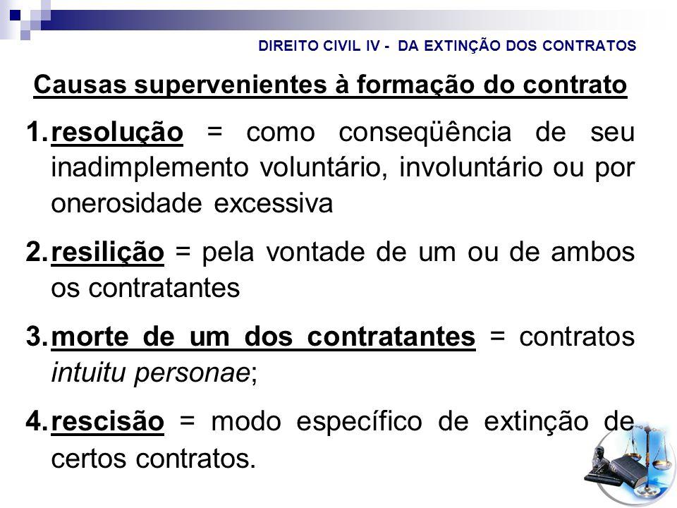 DIREITO CIVIL IV - DA EXTINÇÃO DOS CONTRATOS