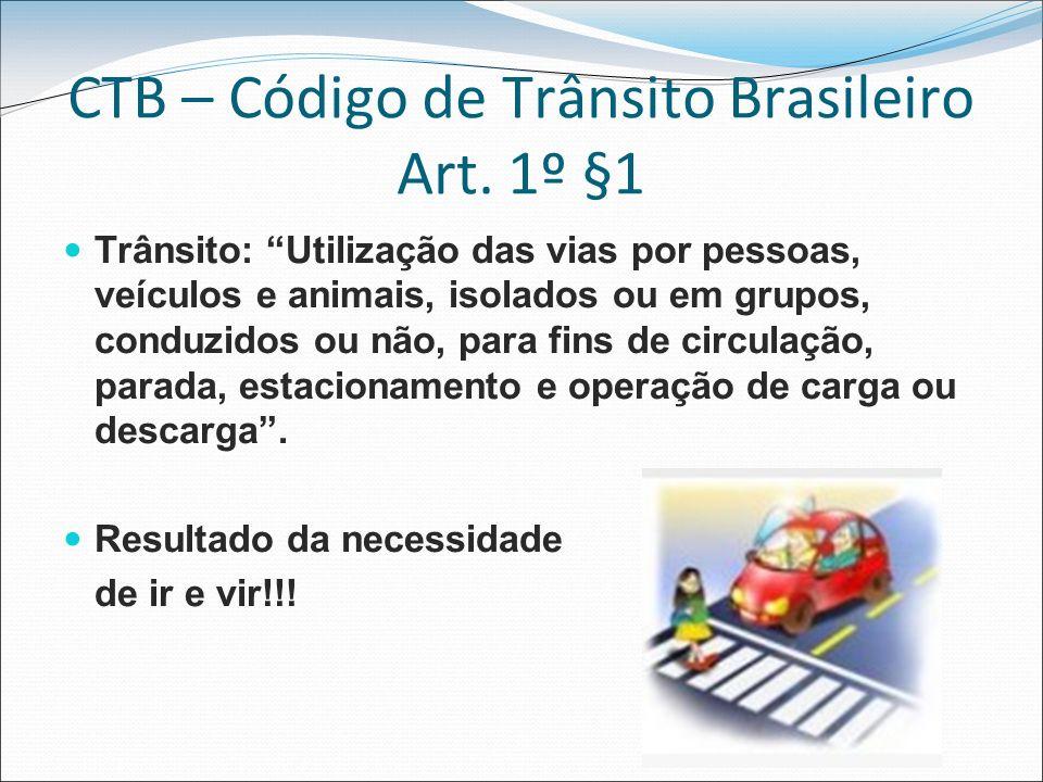 CTB – Código de Trânsito Brasileiro Art. 1º §1