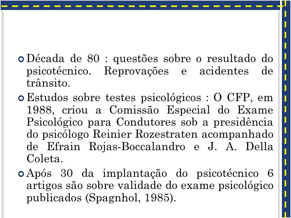Década de 80 : questões sobre o resultado do psicotécnico