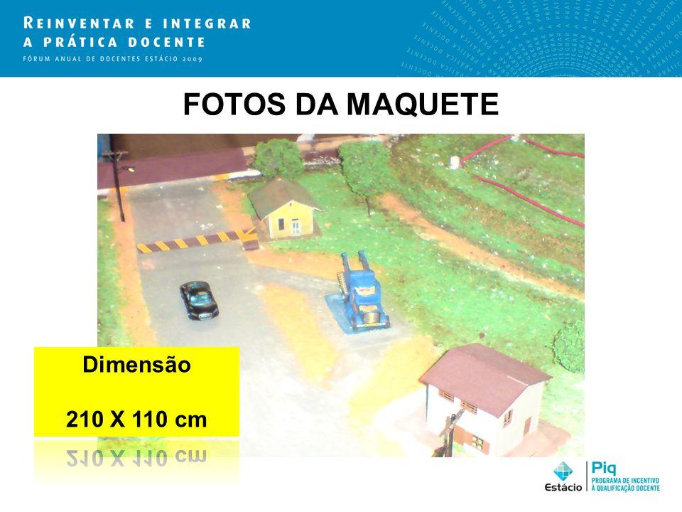 FOTOS DA MAQUETE Dimensão 210 X 110 cm