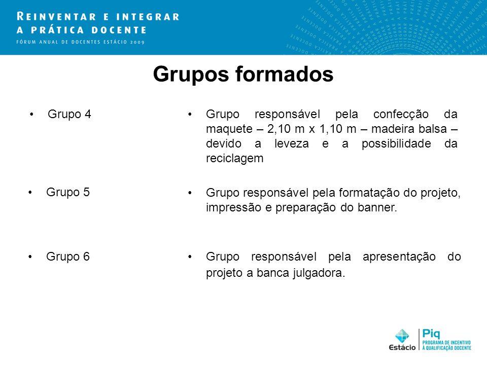Grupos formados Grupo 4.