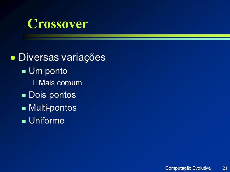 Crossover Diversas variações Um ponto Dois pontos Multi-pontos