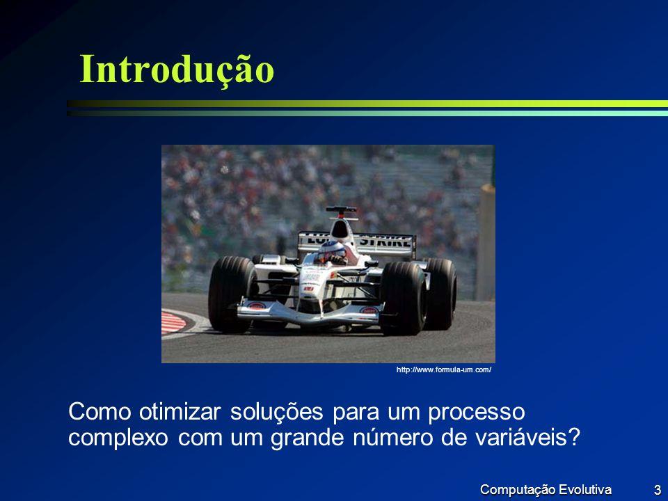 Introdução http://www.formula-um.com/ Como otimizar soluções para um processo complexo com um grande número de variáveis