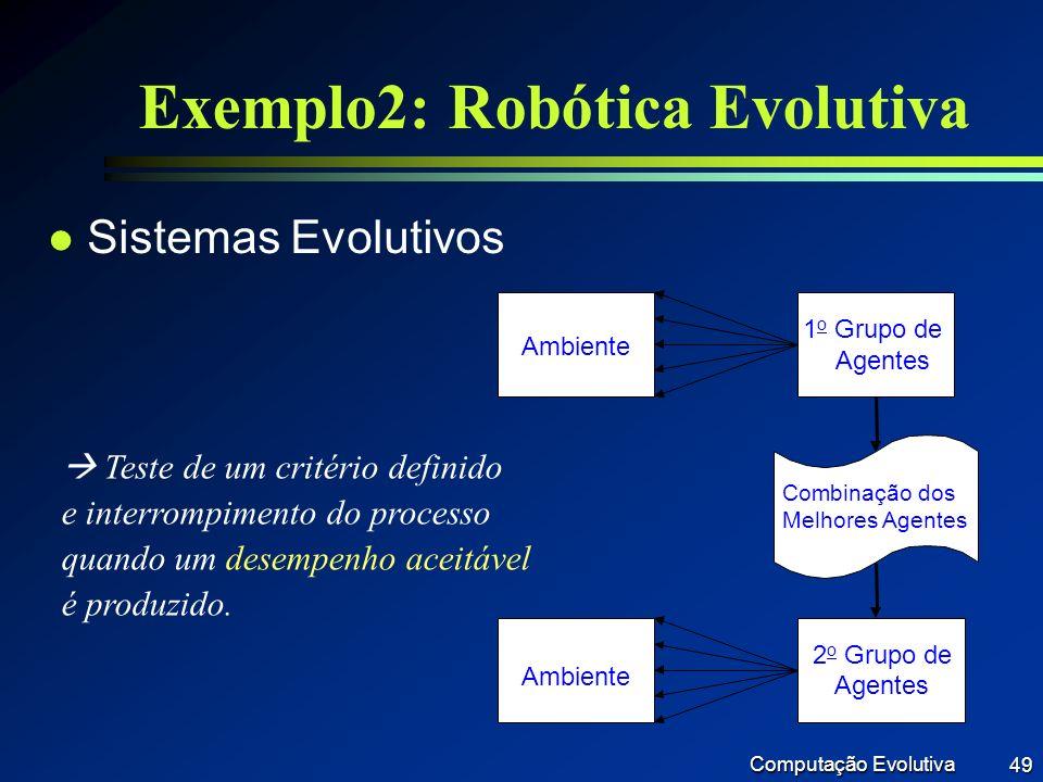 Exemplo2: Robótica Evolutiva