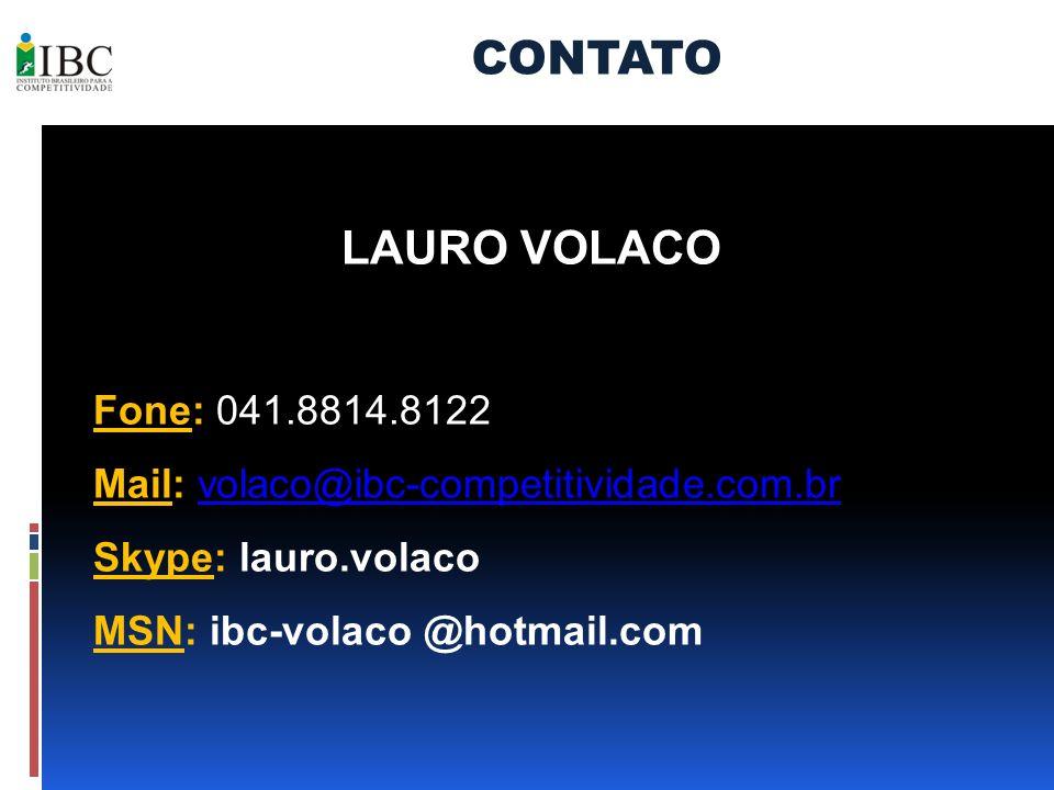 CONTATO LAURO VOLACO Fone: 041.8814.8122