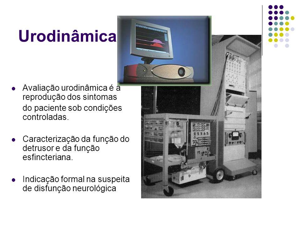 Urodinâmica. Avaliação urodinâmica é a reprodução dos sintomas