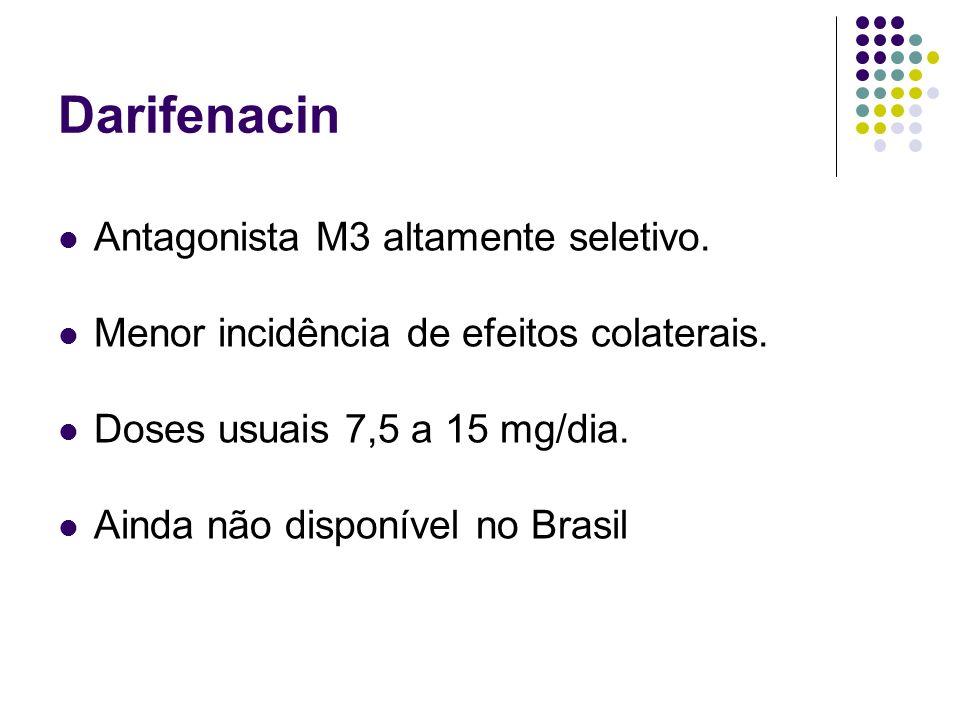Darifenacin Antagonista M3 altamente seletivo.