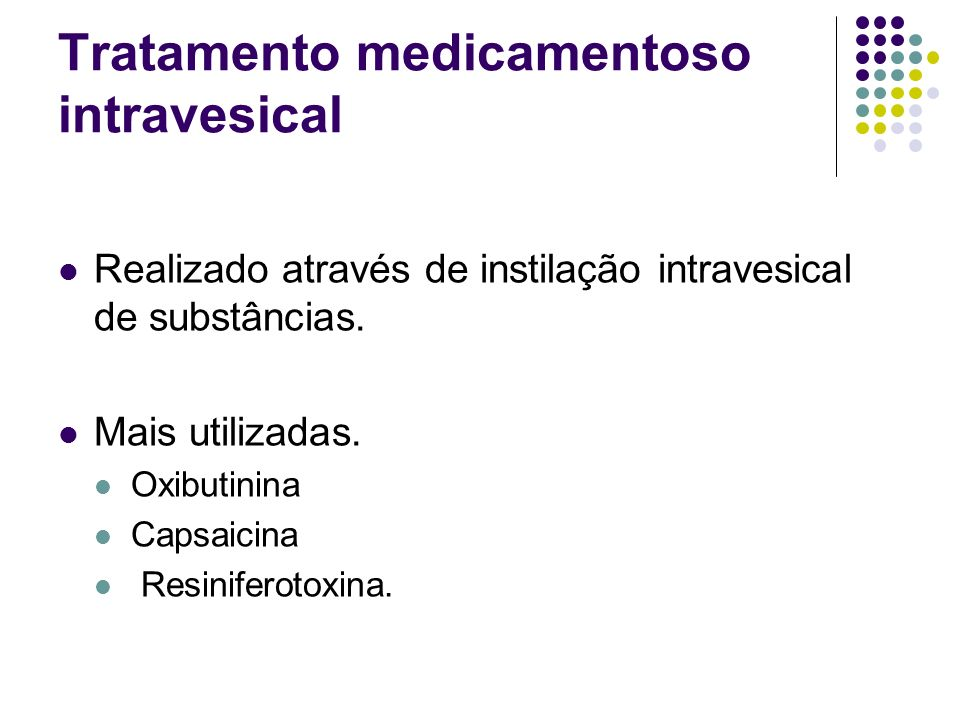 Tratamento medicamentoso intravesical