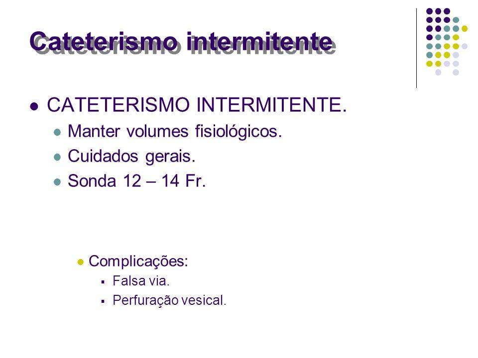 Cateterismo intermitente