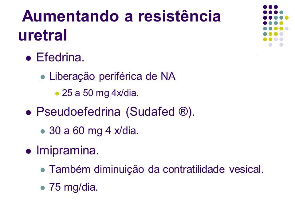 Aumentando a resistência uretral