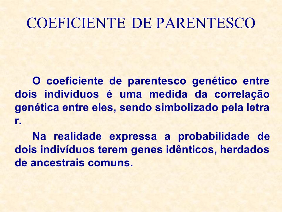 COEFICIENTE DE PARENTESCO