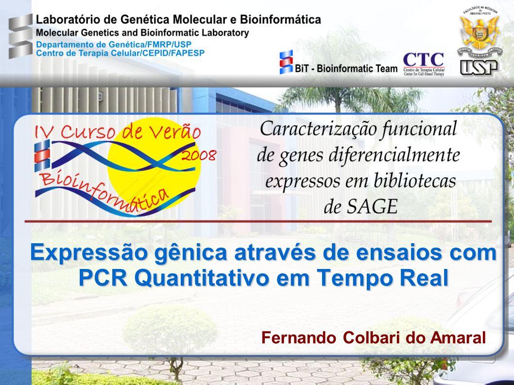Expressão gênica através de ensaios com PCR Quantitativo em Tempo Real