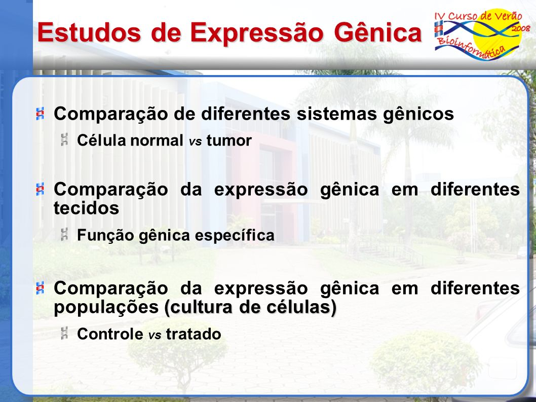 Estudos de Expressão Gênica