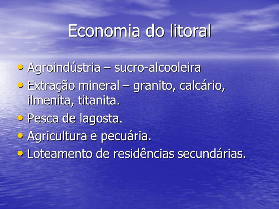 Economia do litoral Agroindústria – sucro-alcooleira