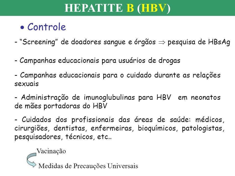 HEPATITE B (HBV) Controle