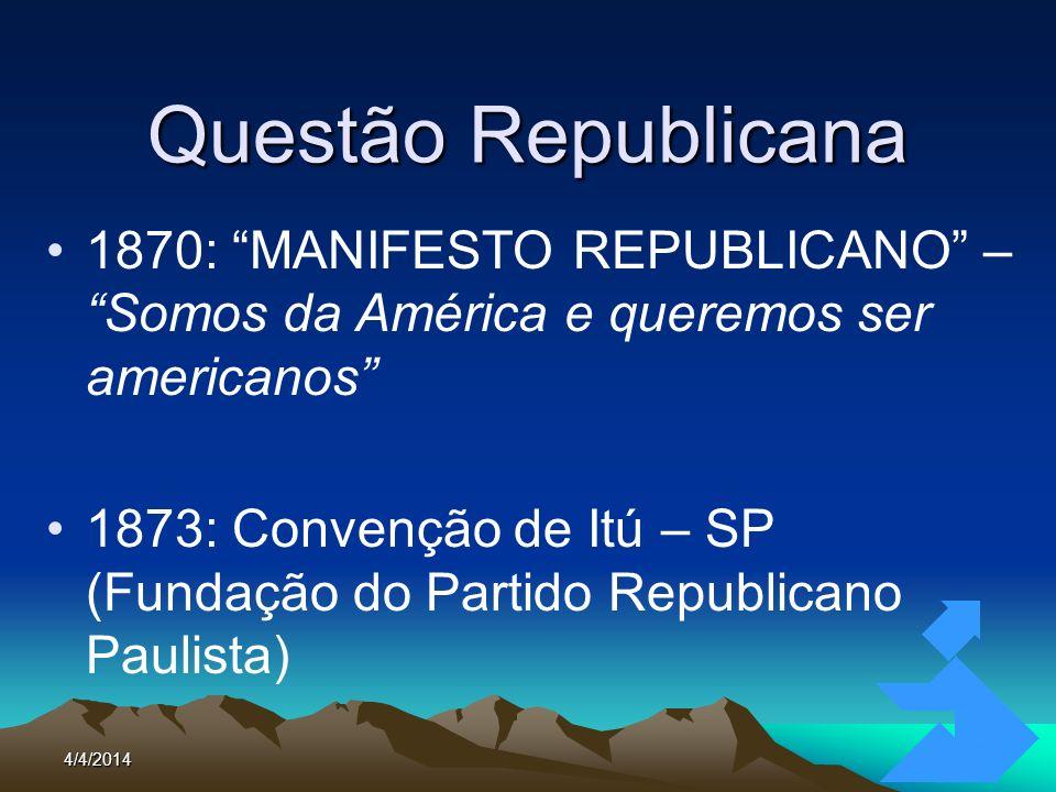 Questão Republicana1870: MANIFESTO REPUBLICANO – Somos da América e queremos ser americanos