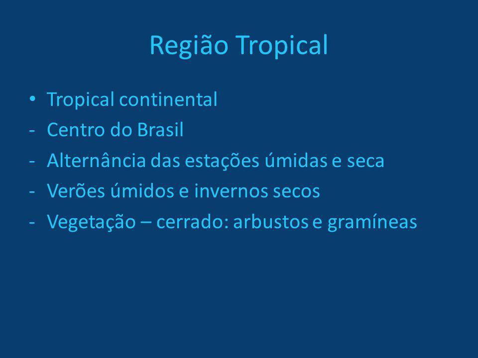 Região Tropical Tropical continental Centro do Brasil