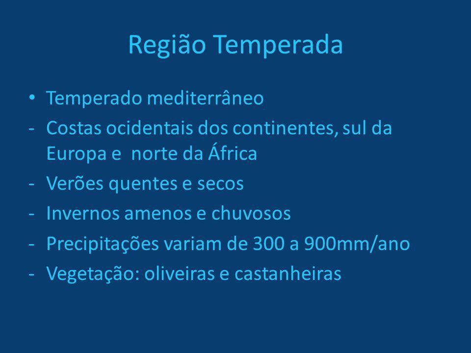 Região Temperada Temperado mediterrâneo