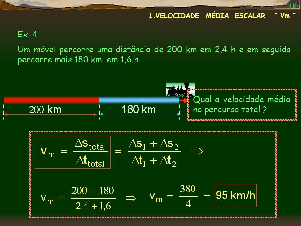 Qual a velocidade média no percurso total