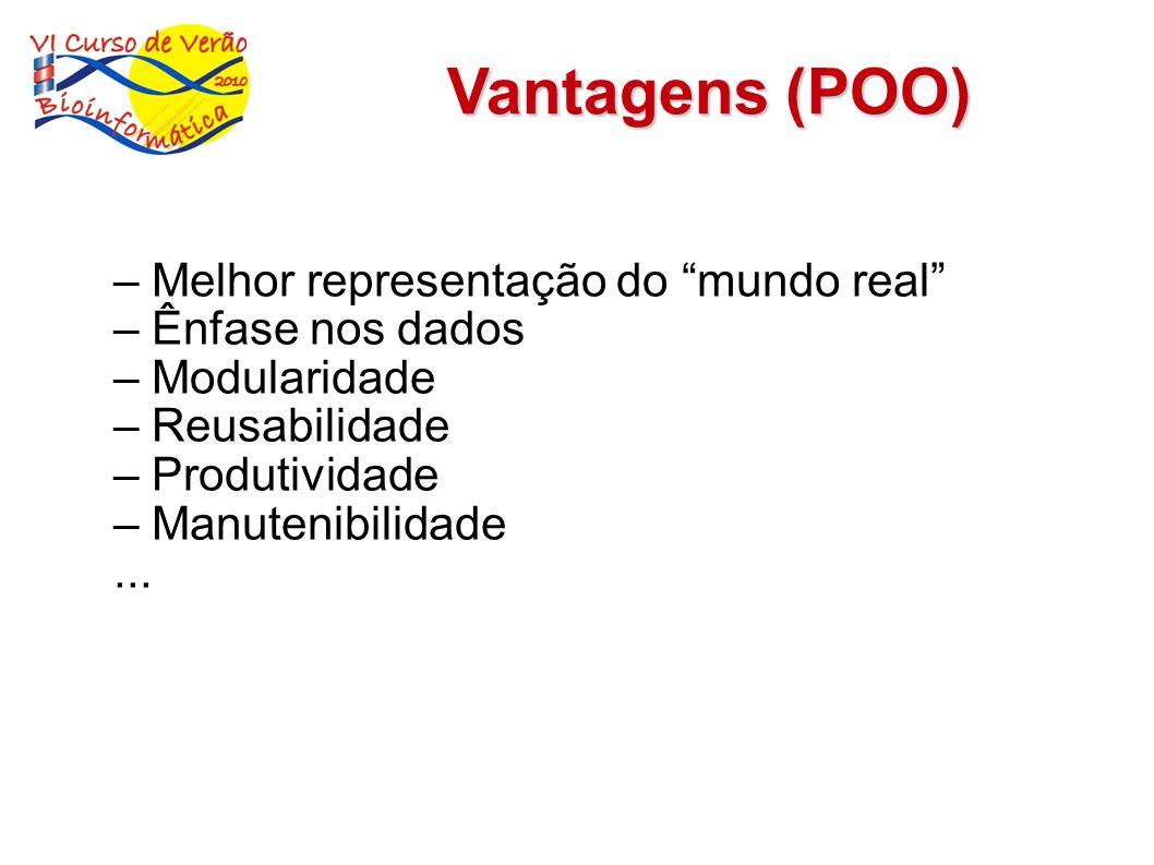 Vantagens (POO) – Melhor representação do mundo real