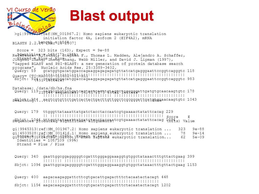 Blast output>gi 9945313 ref NM_001967.2  Homo sapiens eukaryotic translation. initiation factor 4A, isoform 2 (EIF4A2), mRNA.