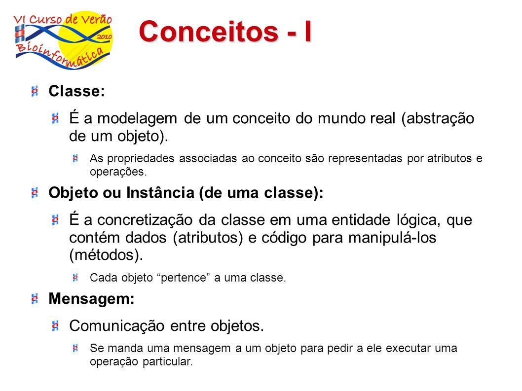 Conceitos - IClasse: É a modelagem de um conceito do mundo real (abstração de um objeto).