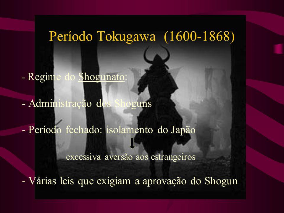 Período Tokugawa (1600-1868) - Administração dos Shoguns