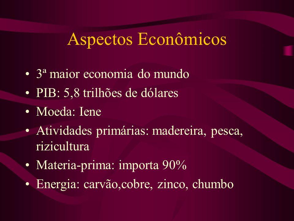 Aspectos Econômicos 3ª maior economia do mundo