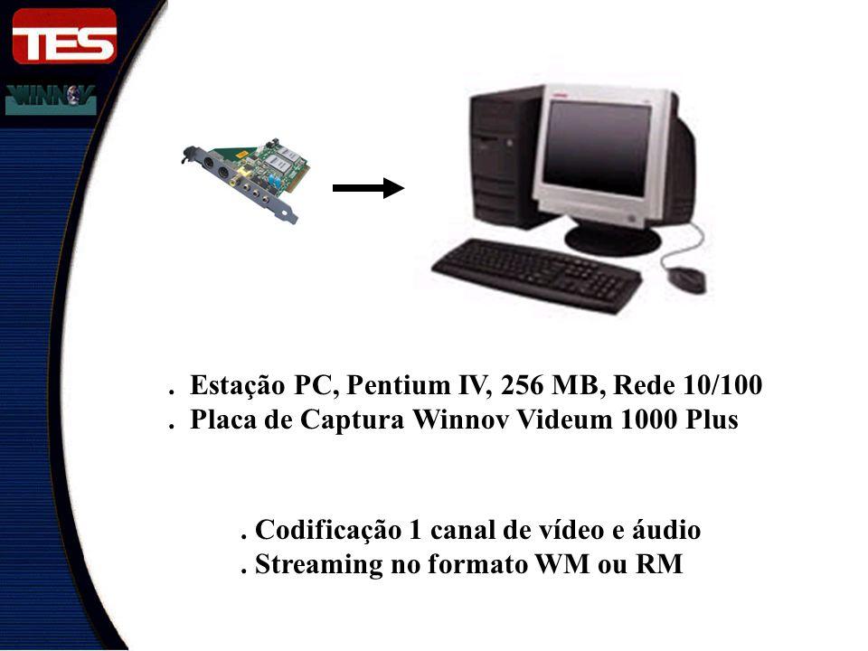 . Estação PC, Pentium IV, 256 MB, Rede 10/100
