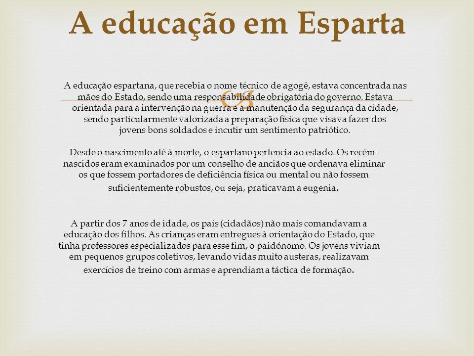A educação em Esparta