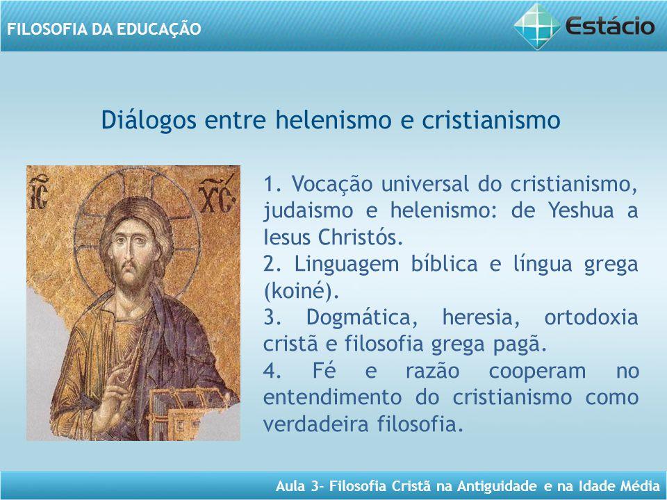 Diálogos entre helenismo e cristianismo