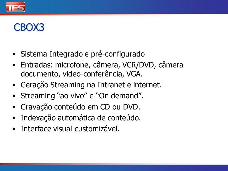 CBOX3 Sistema Integrado e pré-configurado