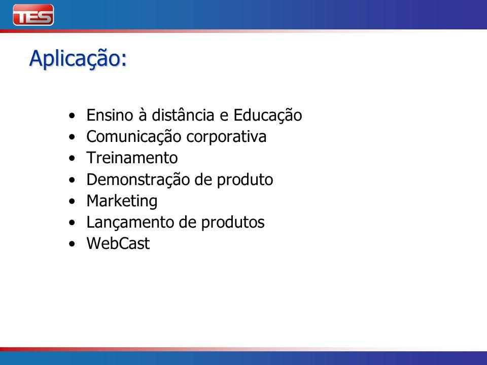 Aplicação: Ensino à distância e Educação Comunicação corporativa