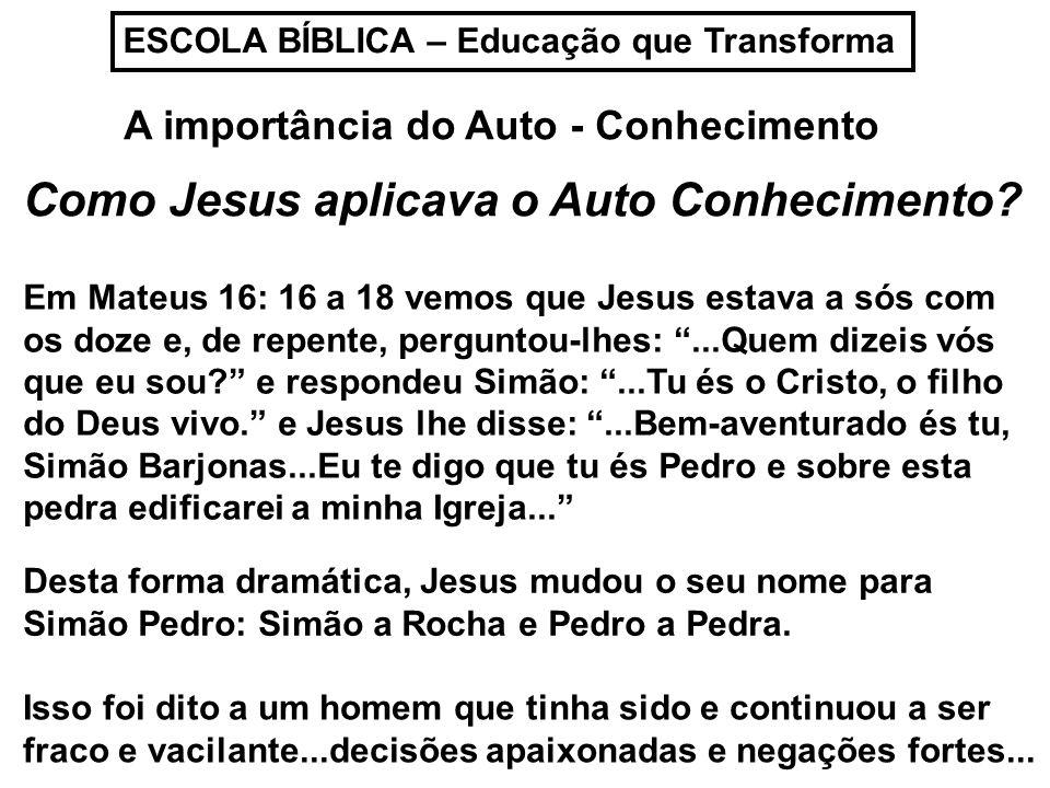 Como Jesus aplicava o Auto Conhecimento