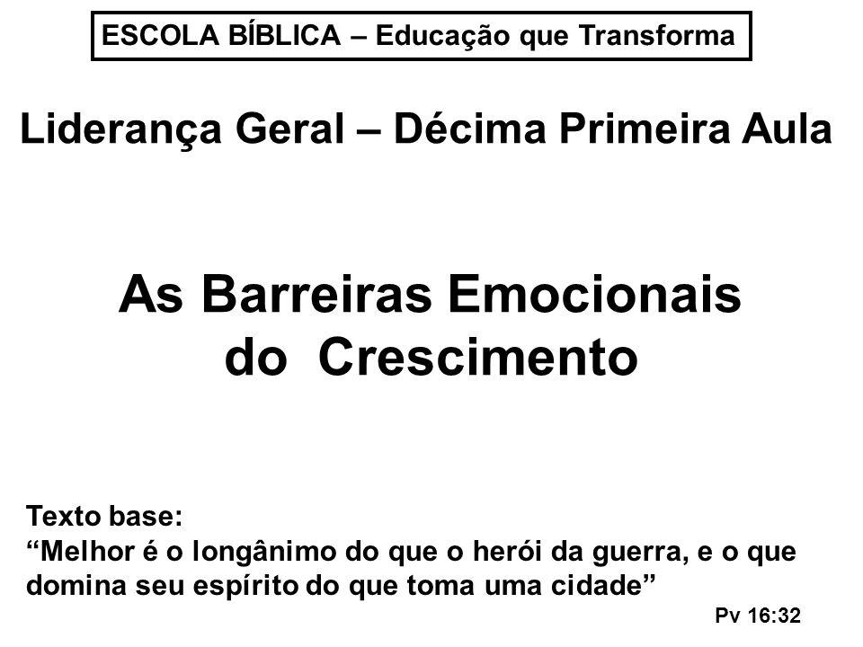 As Barreiras Emocionais