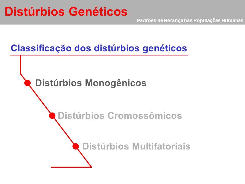 Distúrbios Genéticos Classificação dos distúrbios genéticos