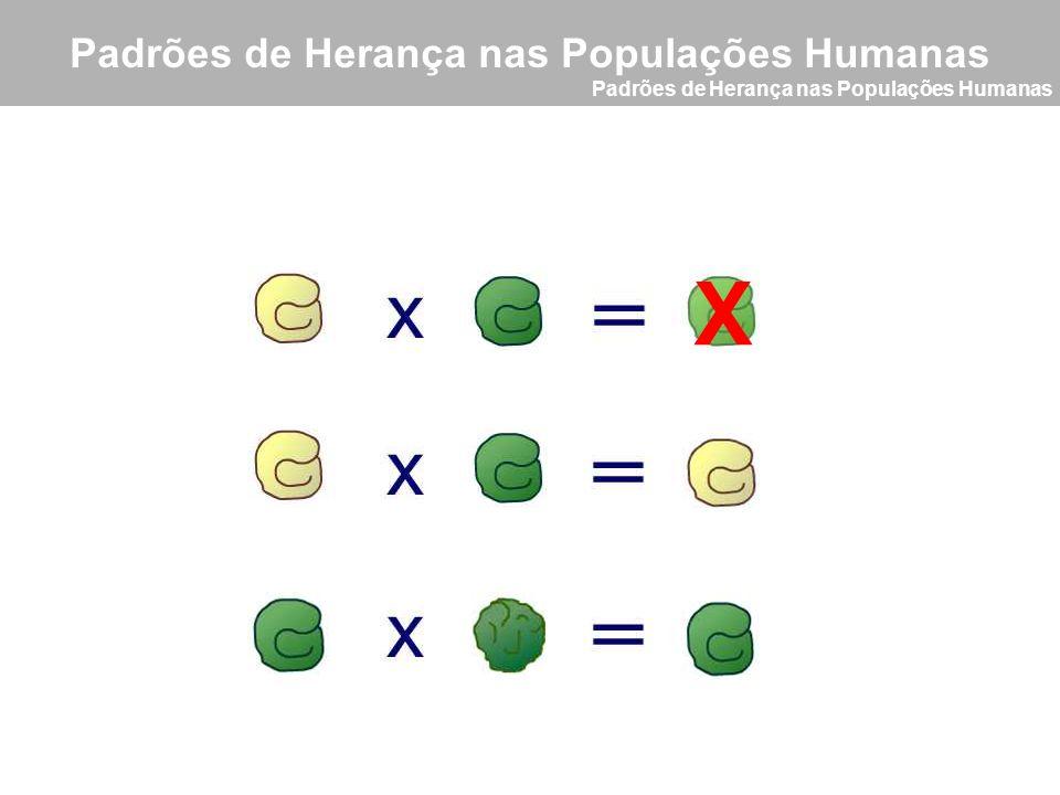 X Padrões de Herança nas Populações Humanas