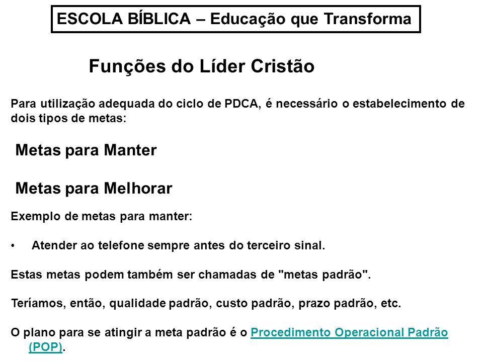 Funções do Líder Cristão