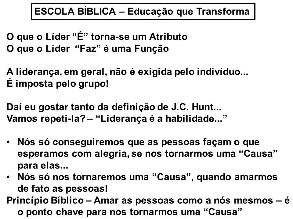 ESCOLA BÍBLICA – Educação que Transforma