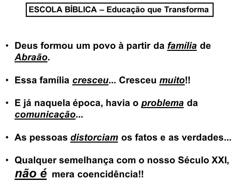 Deus formou um povo à partir da família de Abraão.