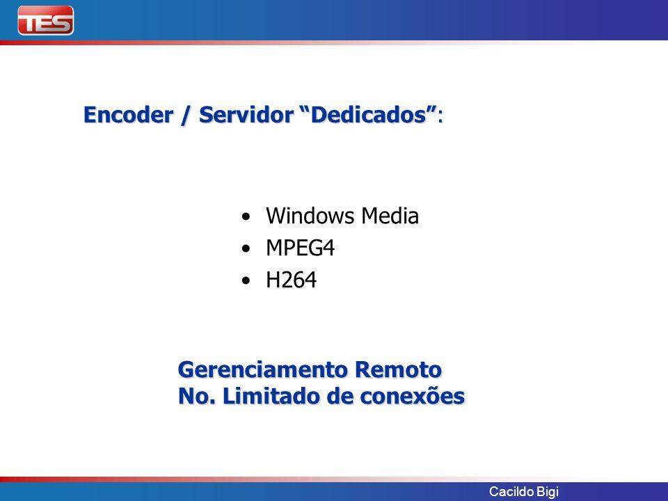 Encoder / Servidor Dedicados :