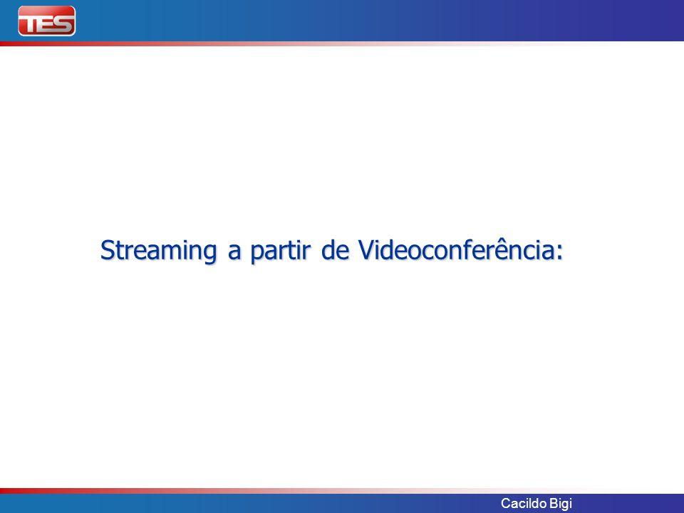 Streaming a partir de Videoconferência: