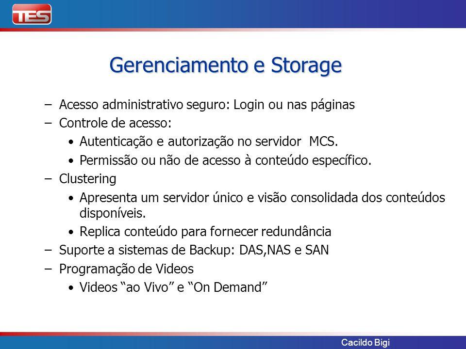 Gerenciamento e Storage