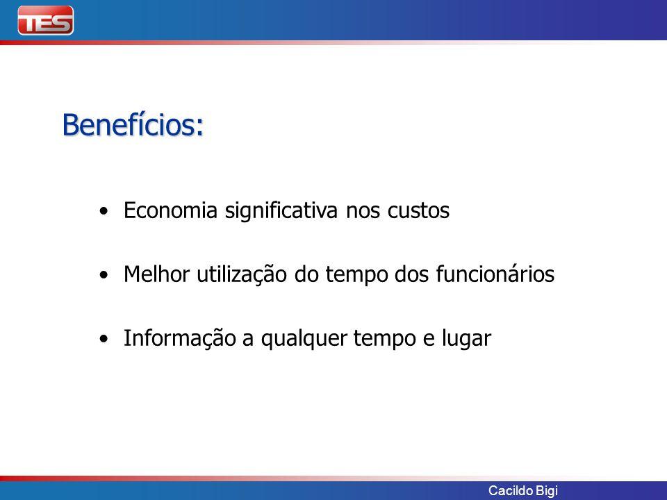 Benefícios: Economia significativa nos custos