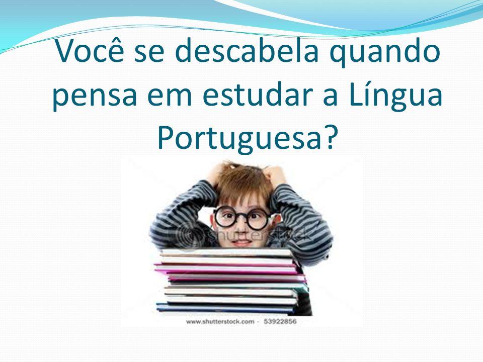 Você se descabela quando pensa em estudar a Língua Portuguesa