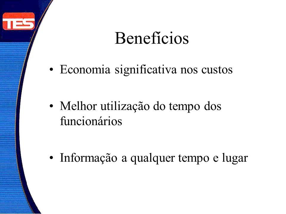 Benefícios Economia significativa nos custos