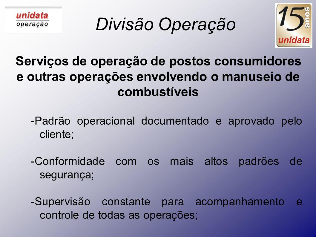 Divisão Operação Serviços de operação de postos consumidores e outras operações envolvendo o manuseio de combustíveis.