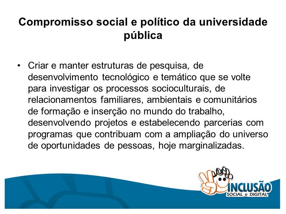 Compromisso social e político da universidade pública