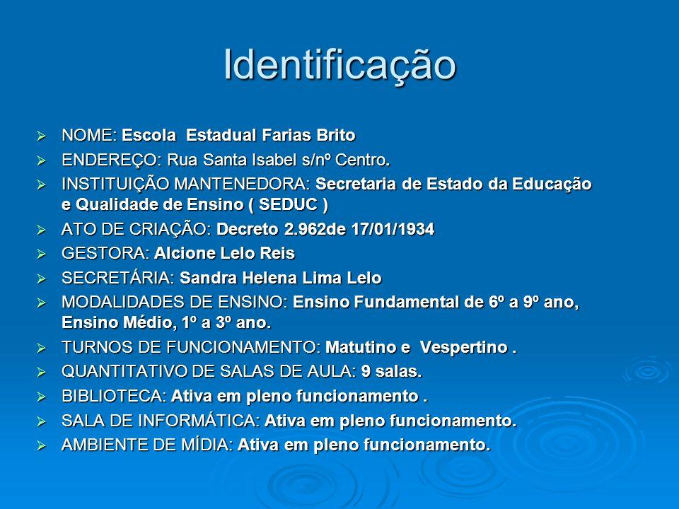 Identificação NOME: Escola Estadual Farias Brito